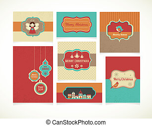 Xmas set - labels, tags and greeting cards