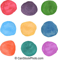 watercolor - Abstract watercolor smear hand paint on white...