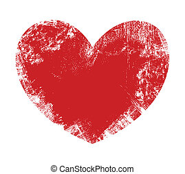 Valentine Heart - Grunge Vector