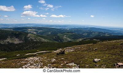 Sniezka Summit in Karkonoszone Mountainsin Poland