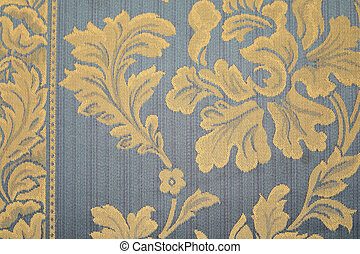 Blue rug with yellow flowers Whole background