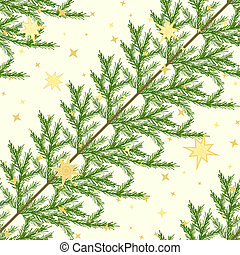 Seamless pattern with fir branches - Diagonal seamless...