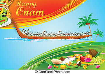 Onam Wallpaper - illustration of Onam wallpaper of Kerala