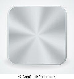 Metal button icon