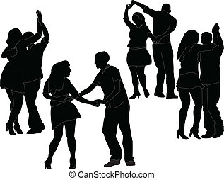 dancers collection - vector - illustration of dancers...