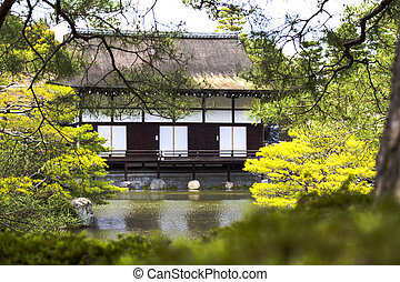nice view with temple at Japan for adv or others purpose use