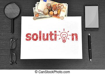 solução, escritório,  desktop
