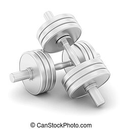 dumbbells fitness on a white background