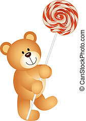 Teddy bear with lollipop