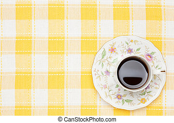 coffee on the table cloth - This is a photo of coffee on the...
