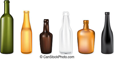 Bottles vector illustration