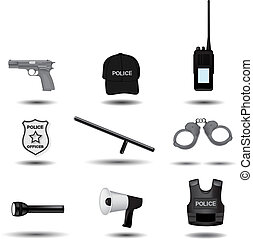 Police and law enforcement vector