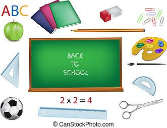 school vector illustrations