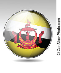 Brunei flag button