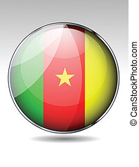 Cameroon flag button