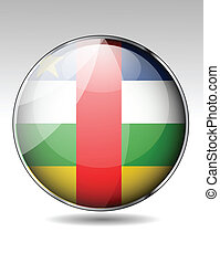 Central African Republic flag button