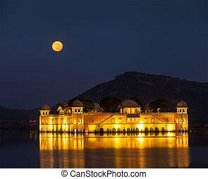 Jal Mahal (Water Palace). Jaipur, Rajasthan, India -...