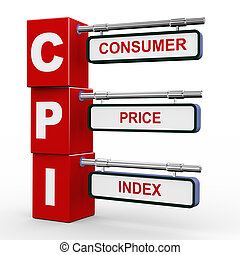 3d modern signboard of cpi