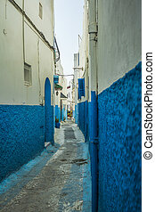 Street in de medina - Street in the medina of Rabat in...