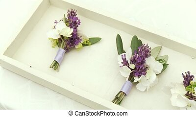 Bouquet With Syringa - video footage of a nice table...