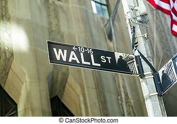 wall street streetsign in New York