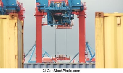 Container Terminal - video footage of a container Terminal...