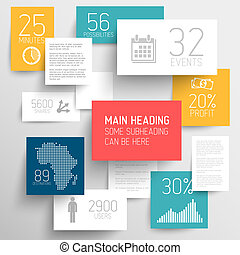 Vector abstract rectangles background illustration / infographic template