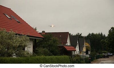 Aircraft flying over Houses - video footage of deep flying...