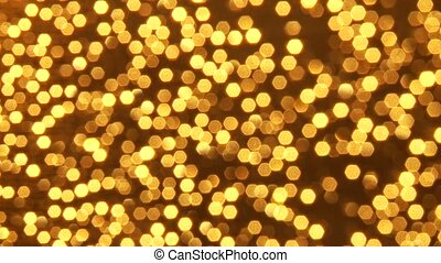 Golden Light effect - video footage of a unshap golden light...