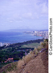 Honolulu - view of Honolulu from the top of Diamond Head