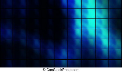 Square Wall Blue Looping Animated Background