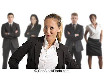 Successful Business Team - Concept of Successful Business...