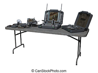 Surveillance Equipment - 3D digital render of a surveillance...