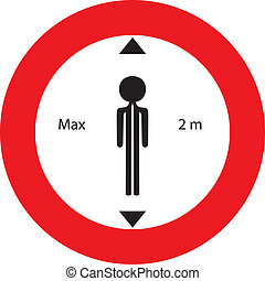 maximum hight - round road sign with maximum higt