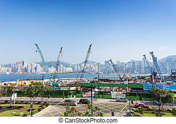 Construction site - HONG KONG, CHINA - FEBRUARY 21:...