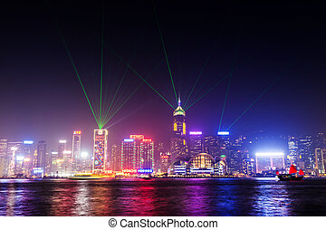 Victoria harbor - HONG KONG - FEBRUARY 21: Victoria Harbor...