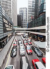 Traffic jam - HONG KONG - February 21: Traffic jam on one...