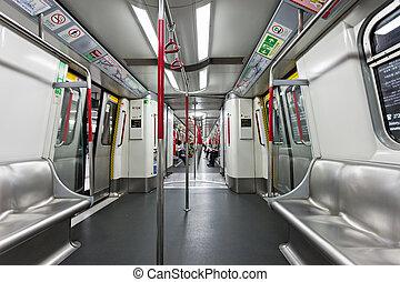 Subway train - HONG KONG - FEBRUARY 22: Subway train...
