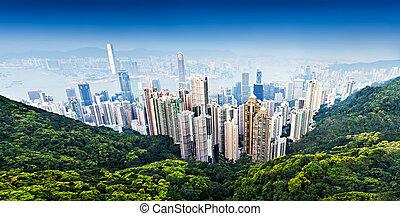 Hong Kong Victoria Harbor - HONG KONG - FEBRUARY 22:...