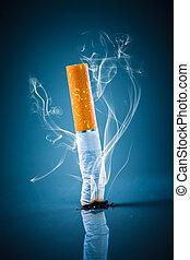 Papieros, grzbiet,  -, palenie, nie