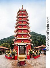 Ten Thousand Buddhas Monastery Man Fat Tsz in Sha Tin, Hong...