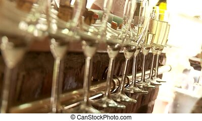 Sparkling Wine Glasses - video footage of sparkling wine...
