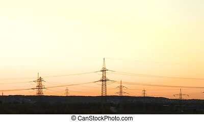 Sunset with Power Poles