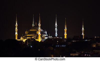 bleu, mosquée,  istanbul,  Sultanahmet