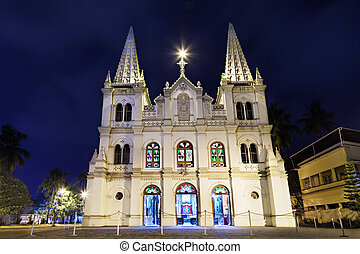 Santa Cruz Basilica in Cochin, Kerala, India