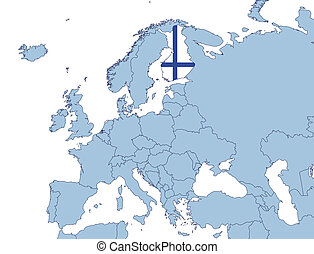 Finland on Europe map