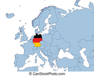 Germany on Europe map