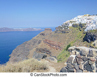Imerovigli in Greece - Imerovigli on the Greek Aegean island...