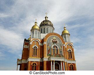 Church against the blue sky,Kiev