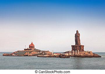 Vivekananda and Thiruvalluvar statues - Vivekananda Rock...